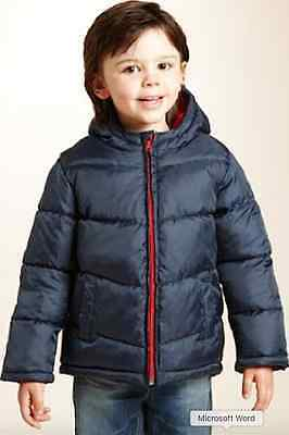 M&S Baby Boys' Navy Padded Jacket Ages 12 months to 24 months - Brand New