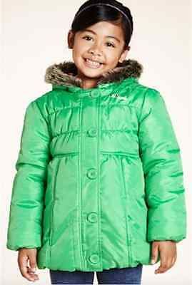M&S Girls' Padded Coat with Faux Fur Hood Assorted sizes 18 months - 5 years NEW
