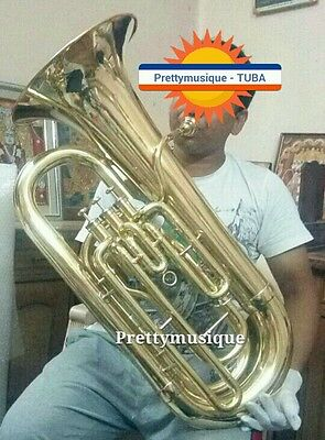 Tuba In Eb Flat Bossy Model Pure Brass Made In Brass Polish (New Year Offer)