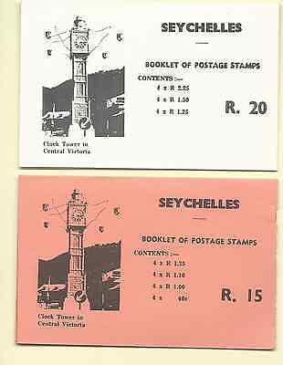 Seychelles 1980 Stamp Booklets Set Of 2, Rupees 15, & 20 Mnh Free Usa Shipping