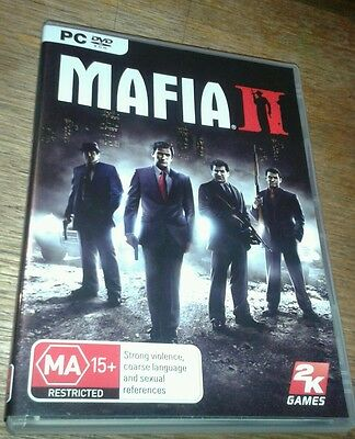 Mafia II pc dvd rom game in like new condition includes booklet