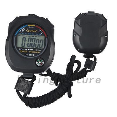Outdoor Waterproof Digital LCD Stopwatch Sports Counter Chronograph Timer Watch