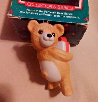 1986 Hallmark Ornament ( Cinnamon Bear Fine Porcelain) 2.5""