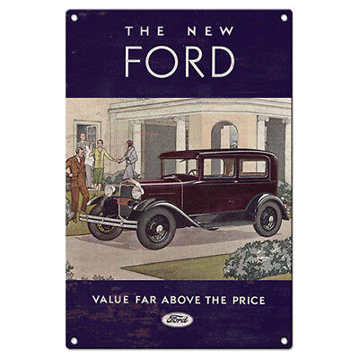 Ford Heritage Vintage Car Tin Street Sign Man Cave Work Birthday Christmas Gift