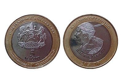 Lesotho, 5 Maloti, 2016, 50th Anniversary Independence, bi-metal, UNC, New
