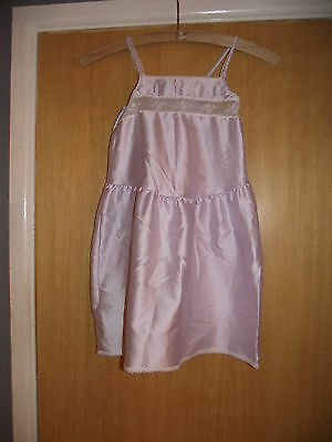 Marks & Spencer Lilac Coloured Embroidered Satin look Petticiat Age 7-8 Years