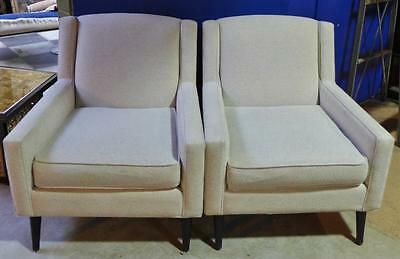 Pair Upholstered Lounge Chairs Lot 273
