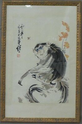 Chinese Watercolor of Monkey Lot 2