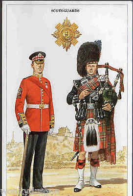 army scots guards, colour postcard. very good condition