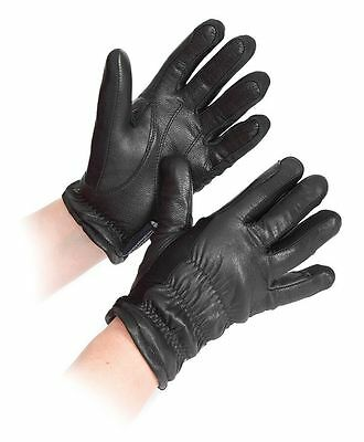 SHIRES Sutton Leather Winter Riding Gloves Black