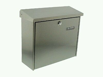 BURG WÄCHTER Mailbox Comfort 3913 Ni Stainless steel with INSIDE LIGHT