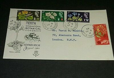 GB first day cover. 1964 Botanical Congress. 5/8/1964