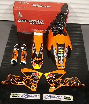 New 04-07 Ktm Exc 125 200 250 300 400 450 Plastics And Graphics Package