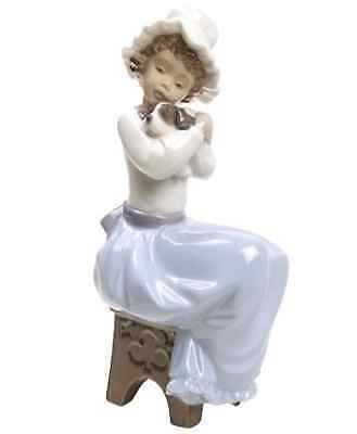 Nao by Lladro Porcelain A Big Hug Special Edition Girl with Dog Figure 02001701
