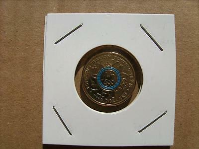 2016 $2 Two Dollar OLYMPIC Blue Circle Coin - Mint - Uncirculated