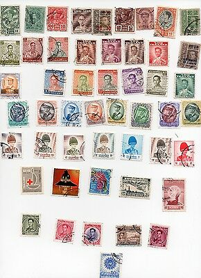 Thailand Stamps 50 All Different and Off Paper