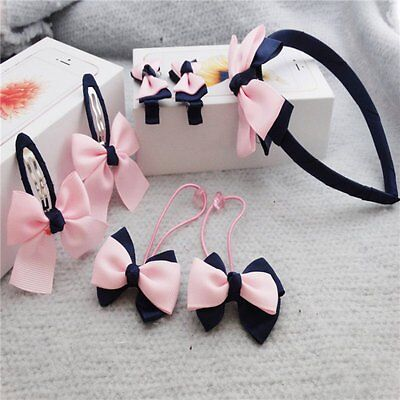 7pcs Kid Girl Multicolor Bow Headwear Baby Hairpin/Elastic Headband/Hairband New