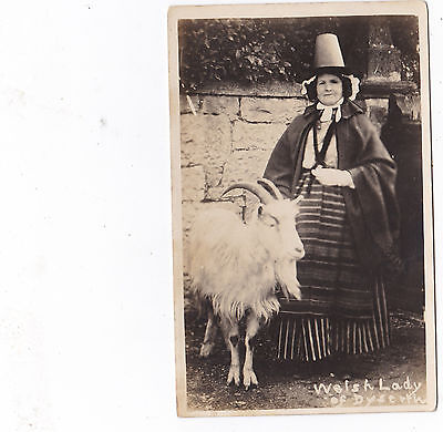 RP Welsh Lady of Dyserth with goat.