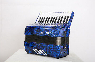 Blue Professional 30 Key 32 Bass Preferred Musical Instruments Accordion #
