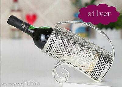 New European Fashion Creative Silver Carbon Steel Plating Wine Rack Holder &$