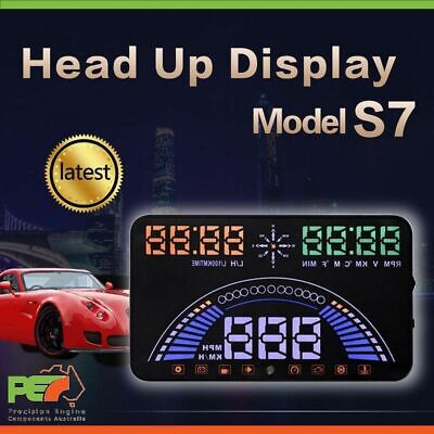 """New HUD S7 5.5"""" Head Up Display OBD & GPS Windscreen Speedometer Projector Syst"""