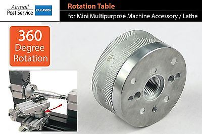 Rotary Table Rotating Disk for Mini Lathe Multipurpose Machine Tool Z023A Mill