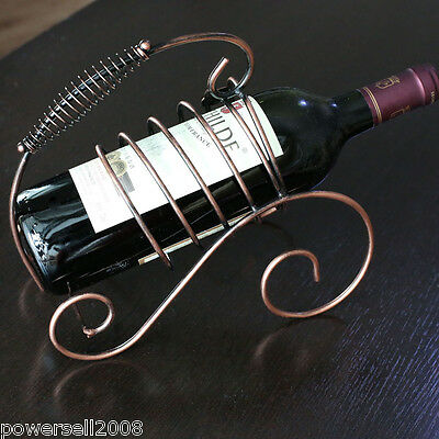 European Fashion Bronze Color Decoration Wrought Ironwork Wine Rack &$