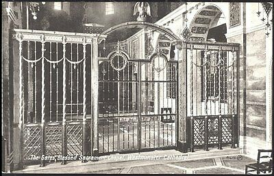 Postcard The Gates Blessed Sacrament chapel Westminster