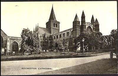 Postcard Rochester Cathedral Kent Real photograph