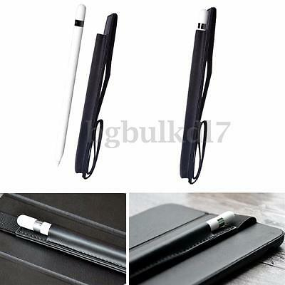 Nero Pelle Custodia Caso Case Banda Pr Apple Pencil Matita iPad Pro 9.7'' Tablet