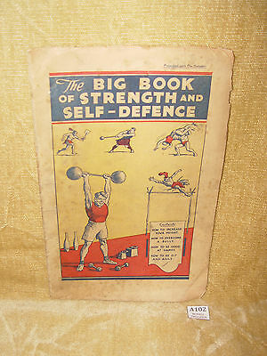 PRESENTED WITH THE HOTSPUR COMIC - BIG BOOK OF STRENGTH & DEFENCE 1930s BOOKLET