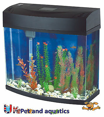 Fish R Fun, Panoramic Fish Tank 12L Black
