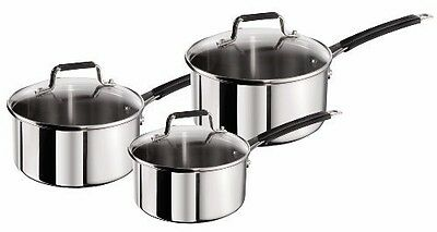 Jamie Oliver Stainless Steel Classic Series,Set of 3 Saucepan Cookware Pan