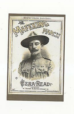 Nostalgic  Postcard Scouts Book Cover The Mafeking March By Ezra Read