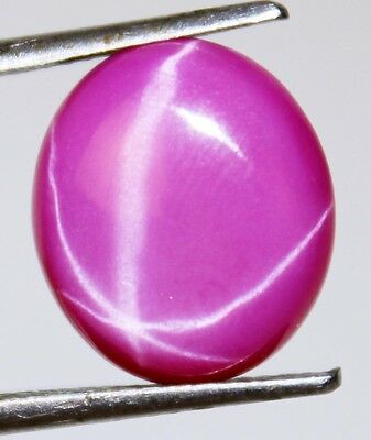 Natural Pink Star Ruby Oval Shape 9.20 Ct. Certified Thailand Loose Gems J-153