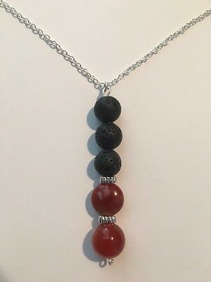 Perfume/essential Oil Crystal Healing Necklace
