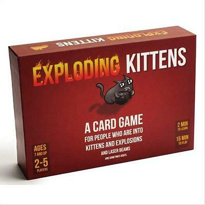 Exploding Kittens Original Edition Card Game Strategy Party Game