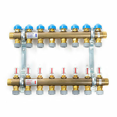 Polypipe Push-fit 15mm Underfloor Heating Manifold - 2 to 12 Port