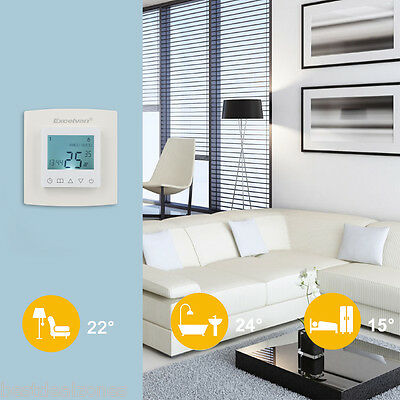 Digital Programmable Temperature Controller Thermostat LCD Display Room Heating