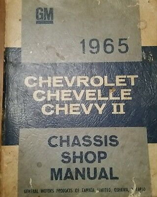 1965 Chevrolet Chevelle Chevy II chassis shop manual