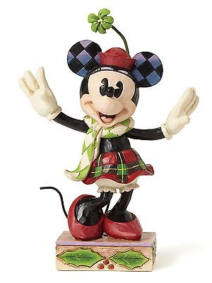 Disney Traditions Merry Minnie Mouse Christmas Figurine Ornament 12cm 4051967