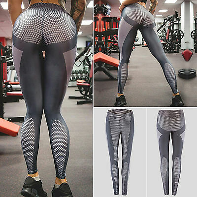 Womens High Waist Yoga Fitness Leggings Running Stretch Sports Pants GYM Clothes
