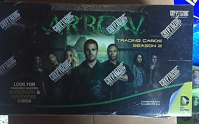 Arrow 2 Sealed Box Autos Cryptozoic Oliver Queen
