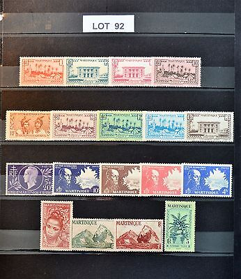"Lot 92  Timbres France "" Martinique "" Neufs"