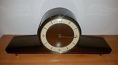 Junghans Made In Germany Antique Mantel Clock Working Mechanical Wind On