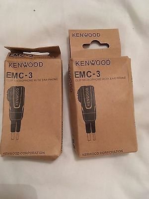 Kenwood Corporation. CLIP Microphone EMC-3 With Earphone