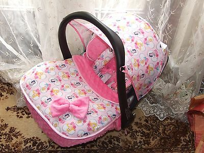 Maxi Cosi Cabriofix ,pebble.universal Sun Canopy Hood /COVERS in princess print