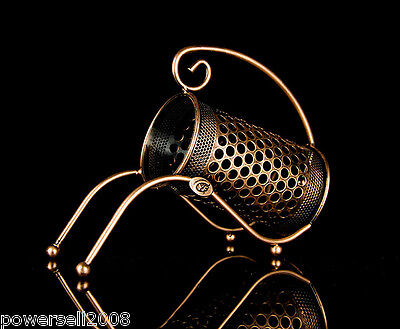 New European Antique Gold Decoration Wrought Iron Circular Grid Wine Rack &$