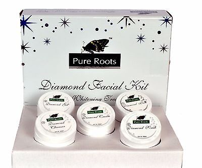 Pure Roots herbal Diamond Facial kit 100gm free shipping