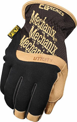 Mechanix CG Utility Fastfit Leather Work Glove - Construction, DIY, Landscaping